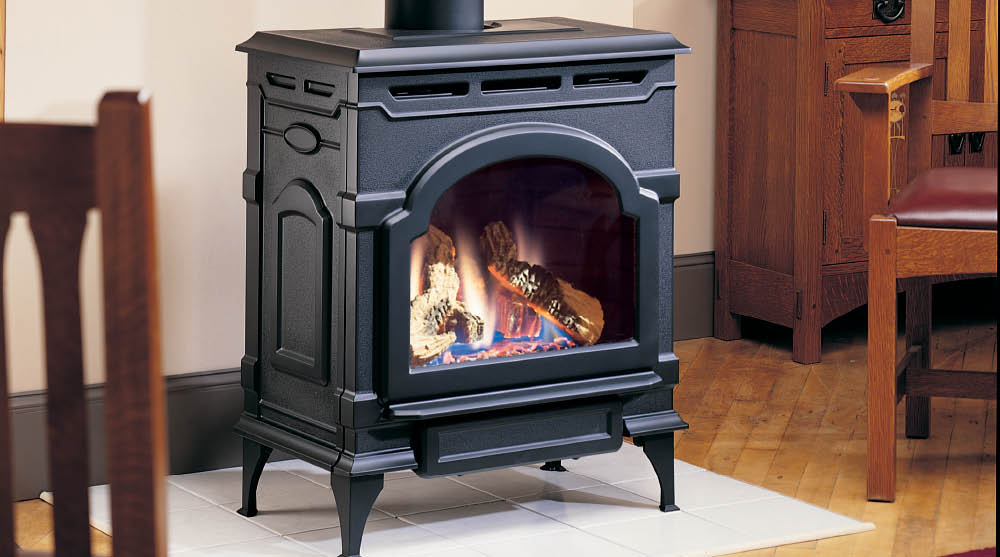 gas stoves harding the fireplace