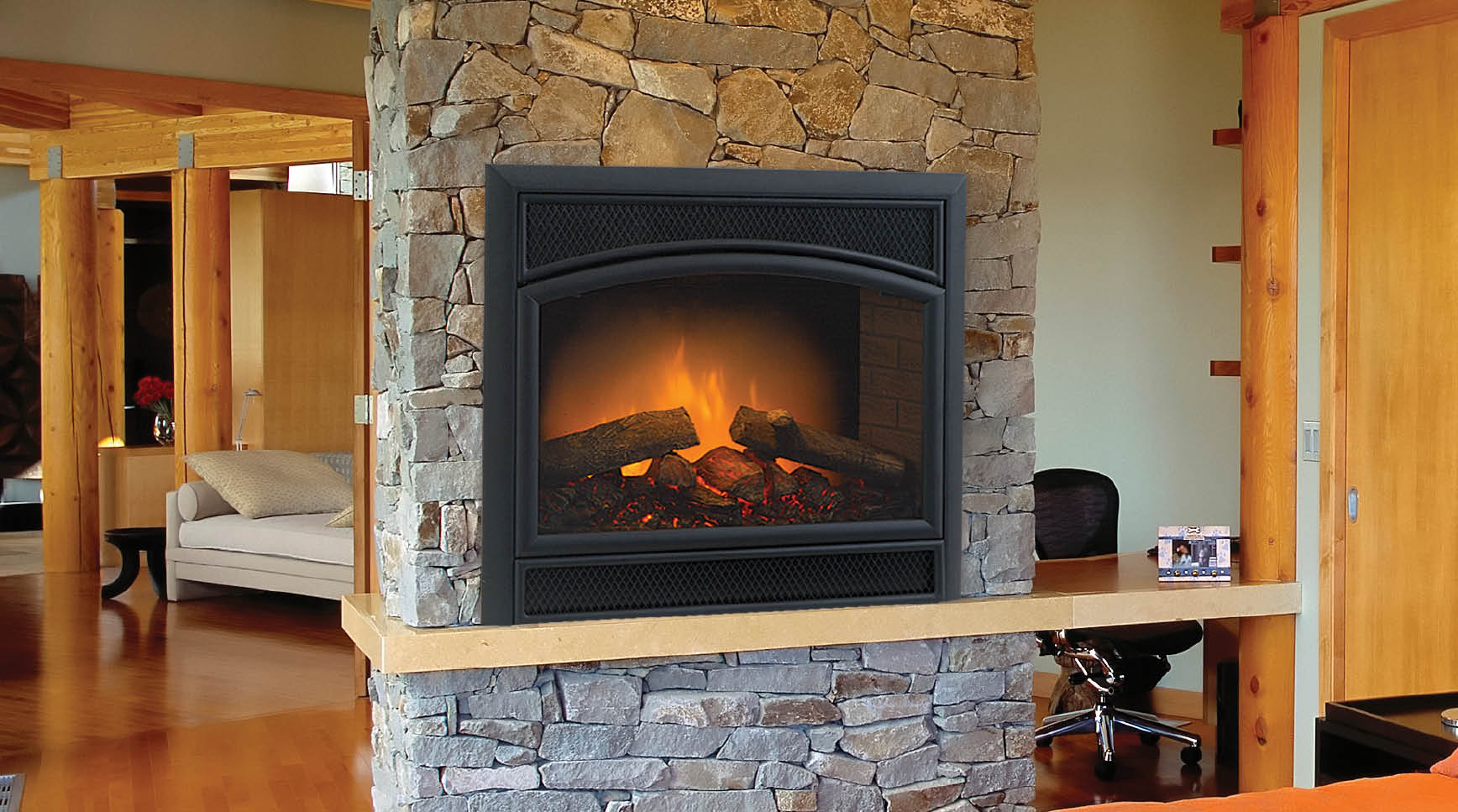 Electric fireplaces harding the fireplace Decorative hearth